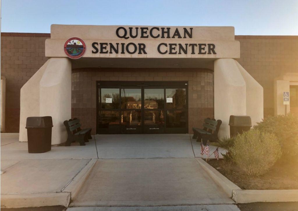 Exterior view of the Quechan senior center