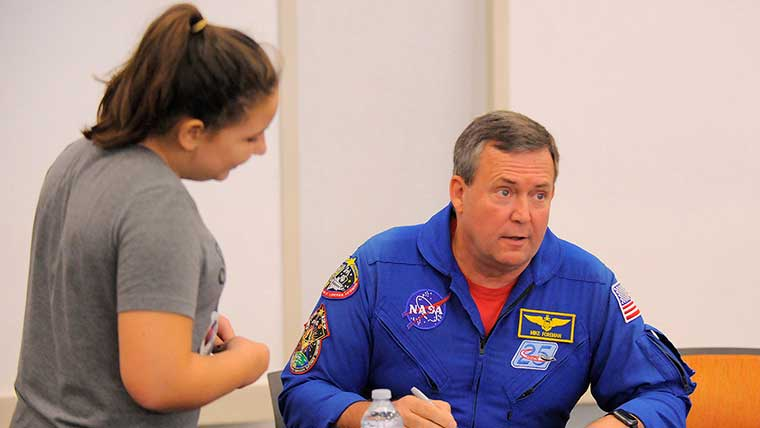 Astronaut, Captain Mike Foreman
