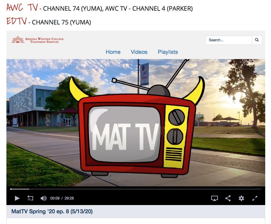 screengrab of the logo on website for MAT Tv (Matador TV)