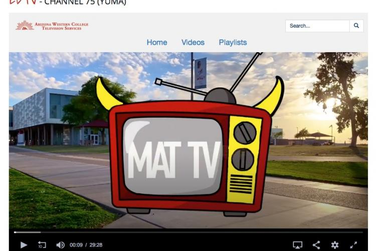 screengrab of the logo on website for MAT Tv (Matador TV)